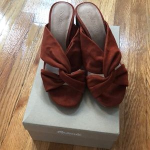 Madewell twisted crisscross sandals 6.5